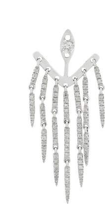Leon Yvonne 18kt white gold and emerald Dessous Denté earrings
