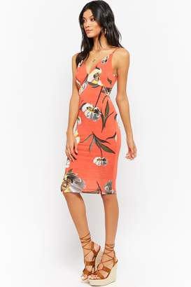 Forever 21 Caged-Back Floral Bodycon Dress