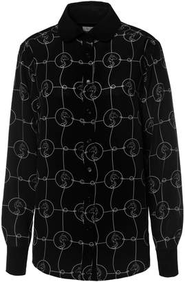 White Horse SOMERVILLE . - Rodeo Blouse In Black with Print