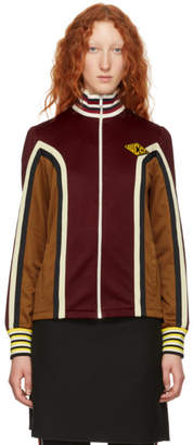 Gucci Burgundy Panelled Track Jacket