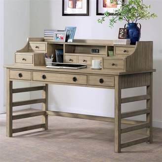 Greyleigh Arbyrd Leg Secretary Desk With Hutch