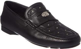 Versace Imola Leather Moccasin