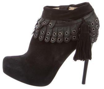 3.1 Phillip Lim3.1 Phillip Lim Suede Grommet Ankle Boots