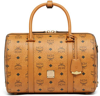 MCM Essential Boston Bag In Visetos Original
