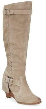 Naughty Monkey Braid Suede Mid-Calf Boots