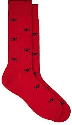 Barneys New York Men's Skull-Pattern Cotton-Blend Socks
