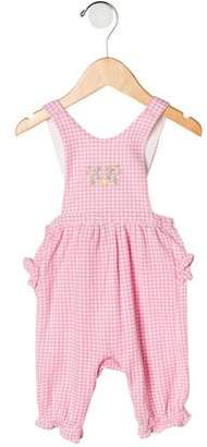 Ralph Lauren Girls' Plaid Overalls
