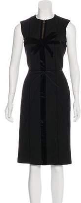 Lanvin Velvet-Trimmed Wool Dress