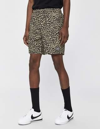 Obey Easy Cotton Short in Khaki Leopard