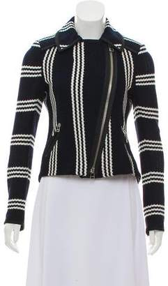 Veronica Beard Knit Biker Jacket