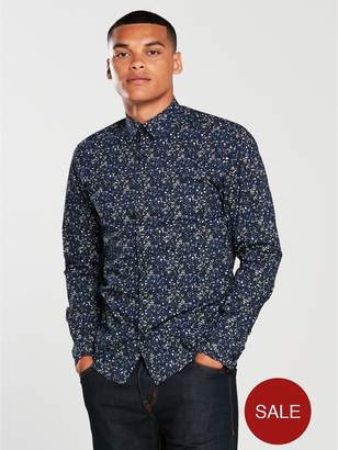 Selected All Over Print L/S Shirt