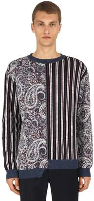 Antonio Marras Linen & Cotton Jacquard Knit Sweater