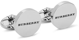 Burberry Enamelled Silver-Tone Cufflinks
