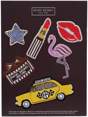 Henri Bendel Embroidery Flamingo Patch Sticker Set