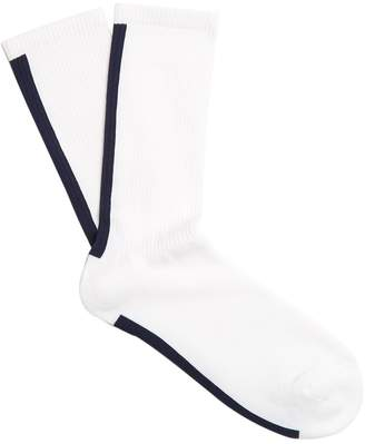 Raey Striped Sea Island cotton-blend socks