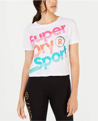 Superdry Cotton Cropped Logo Graphic T-Shirt