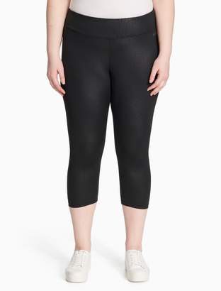 Calvin Klein plus size performance embossed cropped leggings