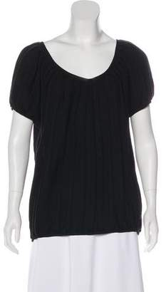 Sofie D'hoore Short Sleeve Wool Top