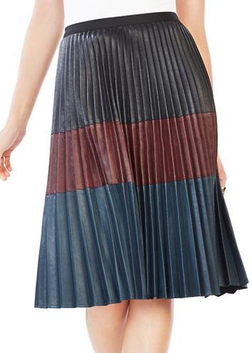 BCBGMAXAZRIABcbgmaxazria Faux Leather Pleated Midi Skirt