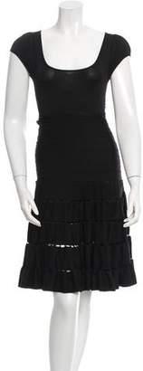 Zac Posen Open Knit A-Line Dress