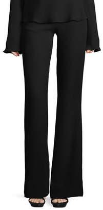 Brandon Maxwell High-Waist Crepe Flare Pants