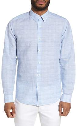 Theory Sylvain Dashed Trim Fit Shirt