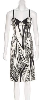 Just Cavalli Printed Midi Dress