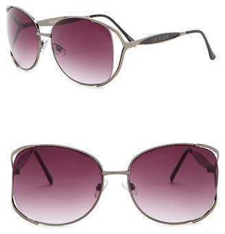 Steve Madden 67mm Metal Oval Sunglasses