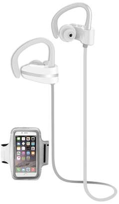 Jarv Silver MACH 1 Sport Wireless In-Ear Bluetooth Headphones with Universal Sports Armband