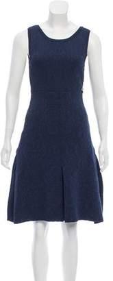 Chanel Pleated Matelassé Dress