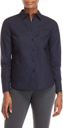 Derek Lam 10 Crosby Pleated Trim Shirt