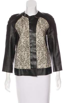 Derek Lam Wool & Cashmere Leather Jacket