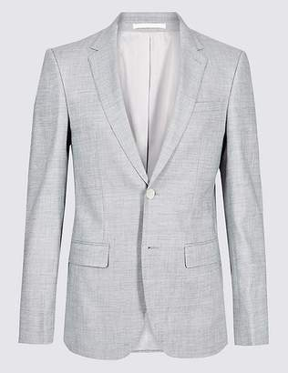Marks and Spencer Linen Miracle Slim Fit Textured Jacket