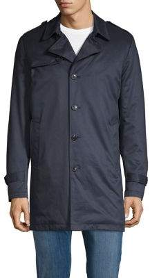 Selected Classic Buttoned Trench Coat
