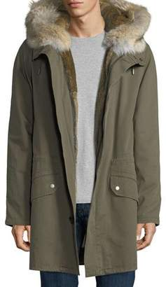 Yves Salomon Men Long Classic Parka w/Fur Lining