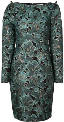 Zac Posen fitted floral dress