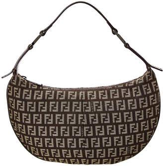 Fendi Brown Zucca Canvas Small Hobo Bag