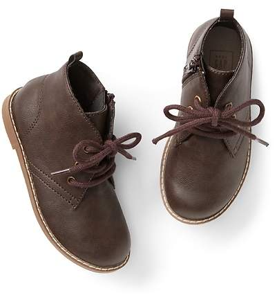 Faux-leather desert boot