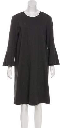 Lafayette 148 Long Sleeve Knee-Length Dress