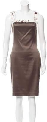 Just Cavalli Square Neck Sheath Dress