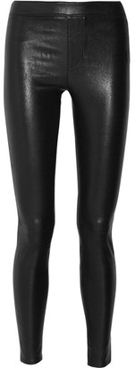 Helmut Lang - Stretch-leather Leggings - Black $940 thestylecure.com