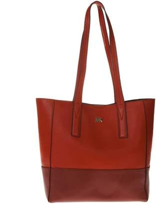 MICHAEL Michael Kors Birc & Red Color Block Shopper Bag