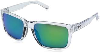 Under Armour UA Assist Wayfarer Sunglasses, UA Assist Satin Black/Black Frame/Gray Lens