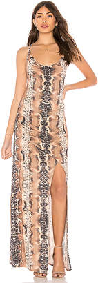 Haute Hippie Sidewinder Cowl Maxi Dress