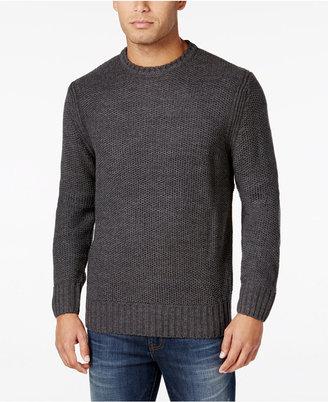 Weatherproof Vintage Men's Honeycomb Sweater, Classic Fit $90 thestylecure.com