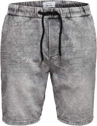 ONLY & SONS Denim Drawstring Sweat Shorts