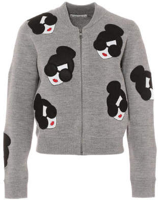 Alice + Olivia (アリス オリビア) - alice + olivia THERON STACEFACE ZIP UP CARDIGAN