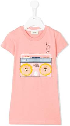 Fendi radio print T-shirt