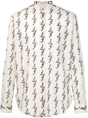 Saint Laurent floral ikat printed shirt
