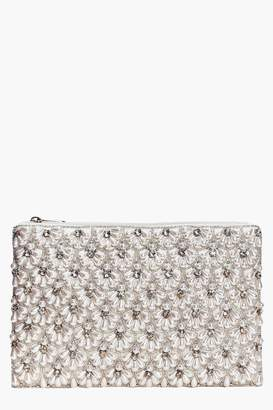 boohoo Boutique Scalloped Bridal Beaded Clutch